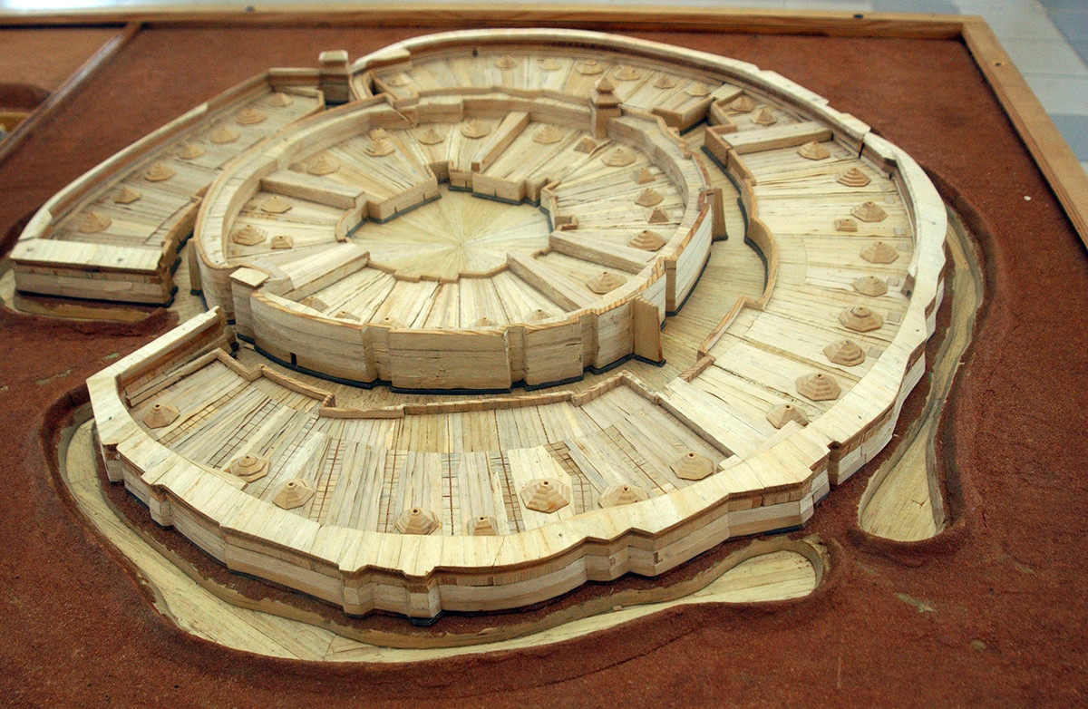 The town of Arkaim, a reconstructed model