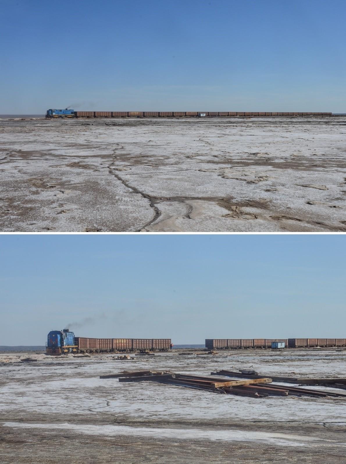 L'exploitation de cet or blanc aurait ici débuté au VIIIe siècle pour être acheminé le long de la légendaire route de la soie. Bien plus tard, durant l'ère soviétique, un chemin de fer sera construit à la surface du lac afin d'en faciliter le transport.