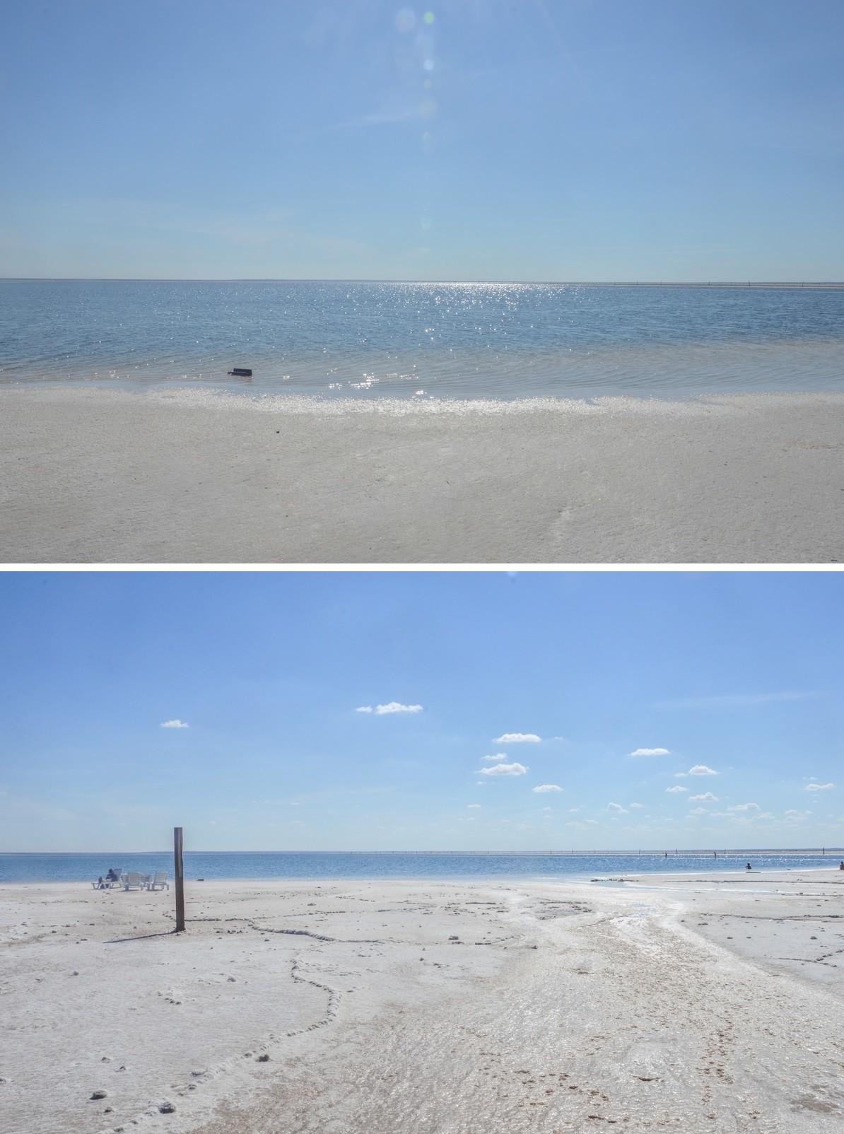 Dans les années 1960, à même la couche de sel durcie durant les mois les plus secs, fut également en son centre aménagée une piste automobile pour l'établissement de records de vitesse, à l'instar du célèbre lac Bonneville américain. Le record absolu d'URSS y sera enregistré à 311,4 km/h.