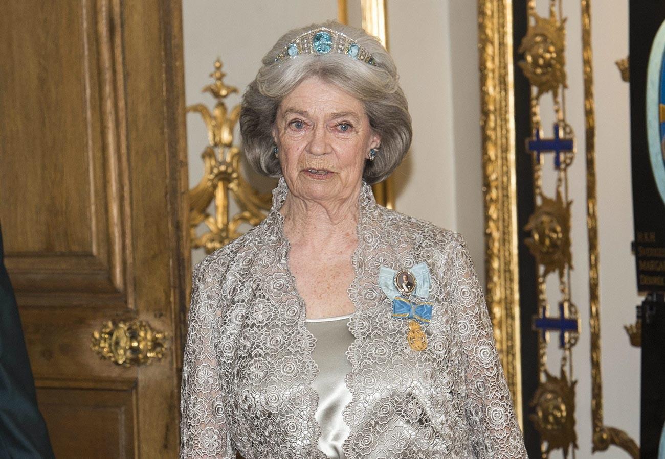 Принцесса Маргарет в аквамариновом