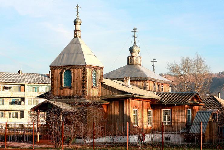 Церковь Благовещения Пресвятой Богородицы в Абазе, республика Хакасия, 1980 г. постройки