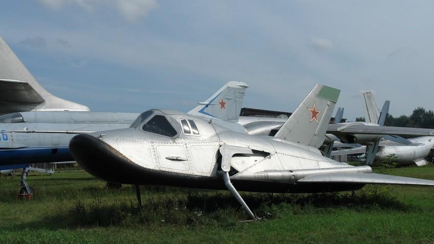 Protótipo do Spiral exibido no Museu da Força Aérea Central em Monino, perto de Moscou