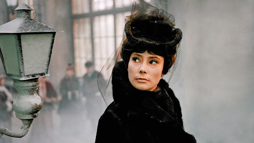 "L'attrice Tatiana Samoilova in una scena del film ""Anna Karenina"" del 1967"