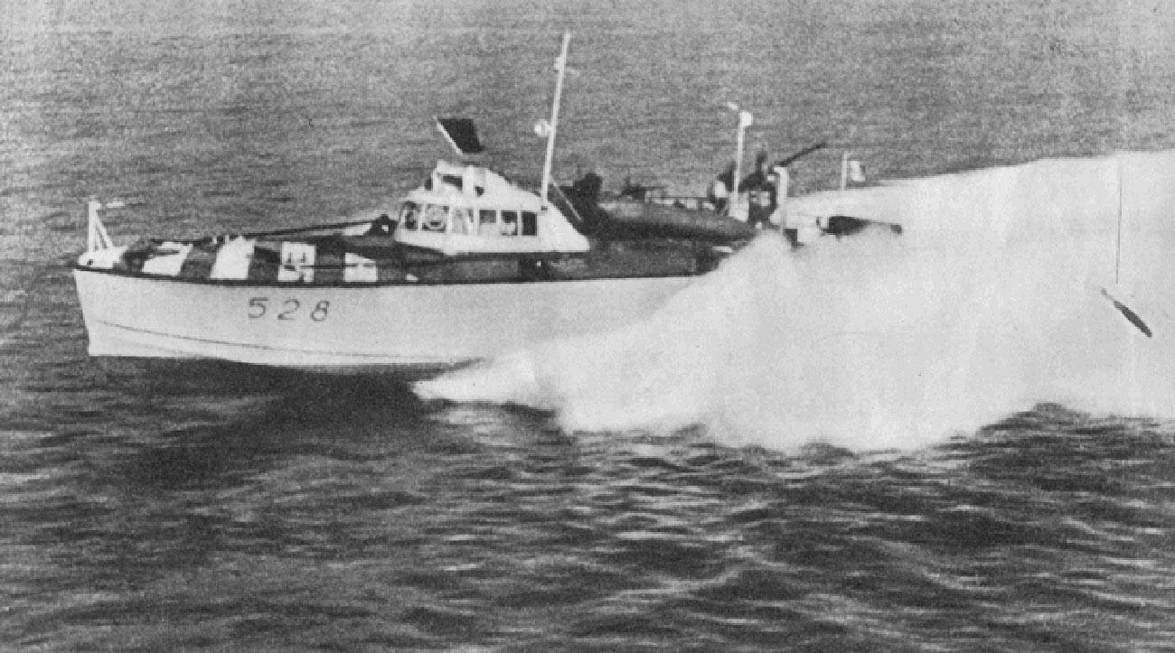 Итальянский торпедный катер MAS 526 на озере Ладога.