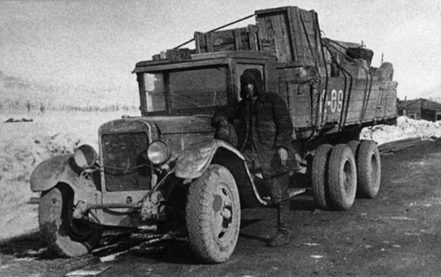 Die Kolyma-Straße im Jahr 1938