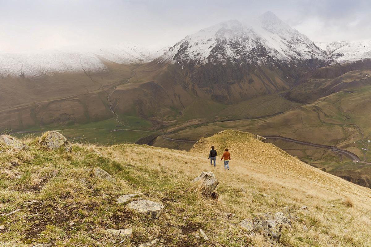 У планинама Северног Кавказа. Клисура Џили-Су.