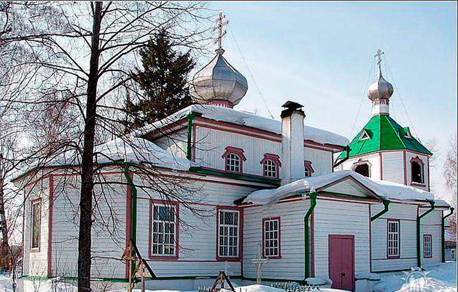Cerkev Paraskeve Pjatnice (sv. Petke) v Velikodvorje, Vladimirska regija, zgrajena leta 1924