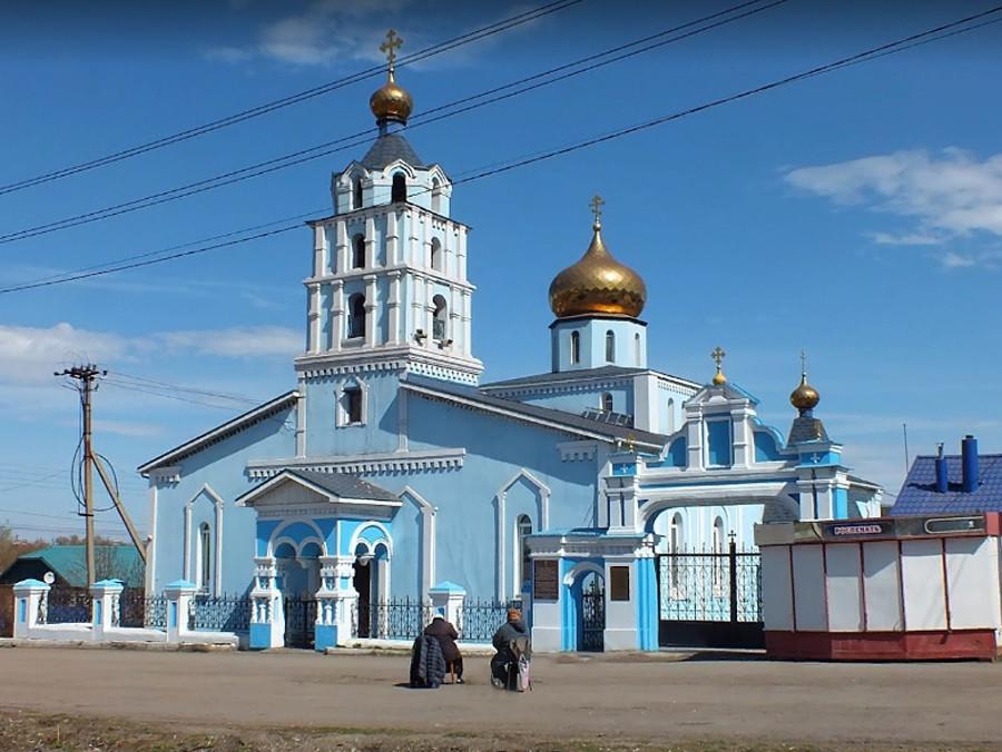 Cerkev nadangela Mihaela v Magnitogorsku, zgrajena leta 1946