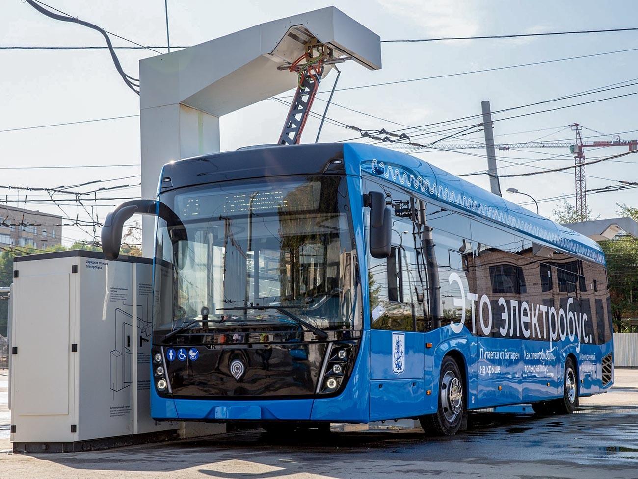 An electric bus Kamaz-6282.