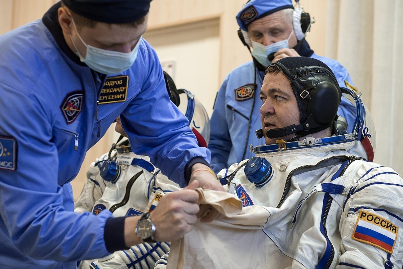 Le cosmonaute russe Oleg Skripotchka
