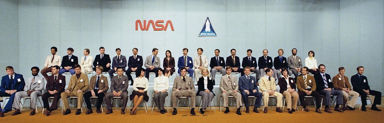 The eighth group of NASA astronauts selected in 1978.