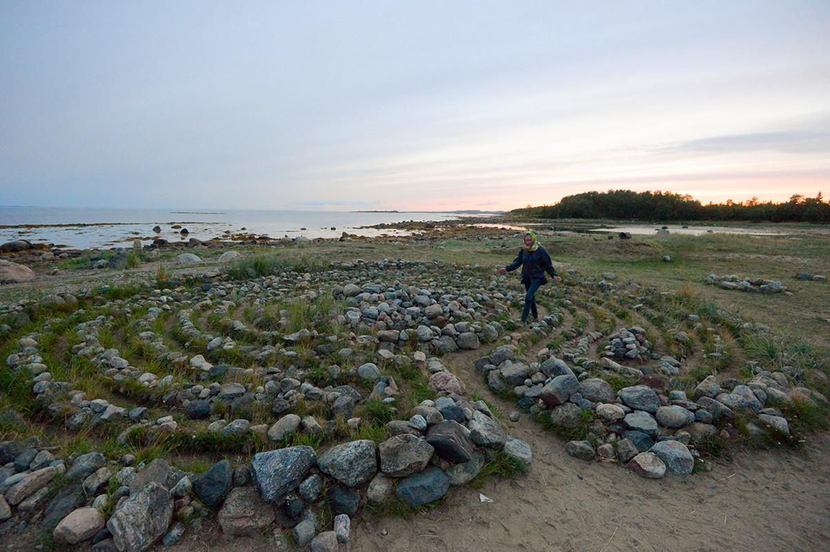 O labirinto de pedra nas ilhas Solovetski.