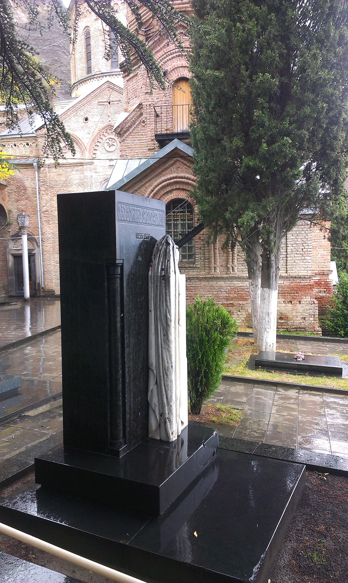 Grabstein auf dem Grab von Jekaterina Geladze