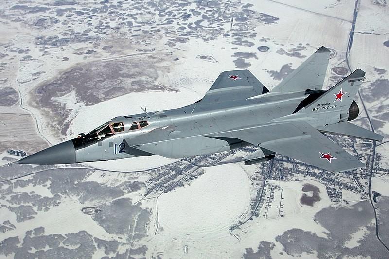 MiG-31de la Fuerza Aérea Rusa. 2012.