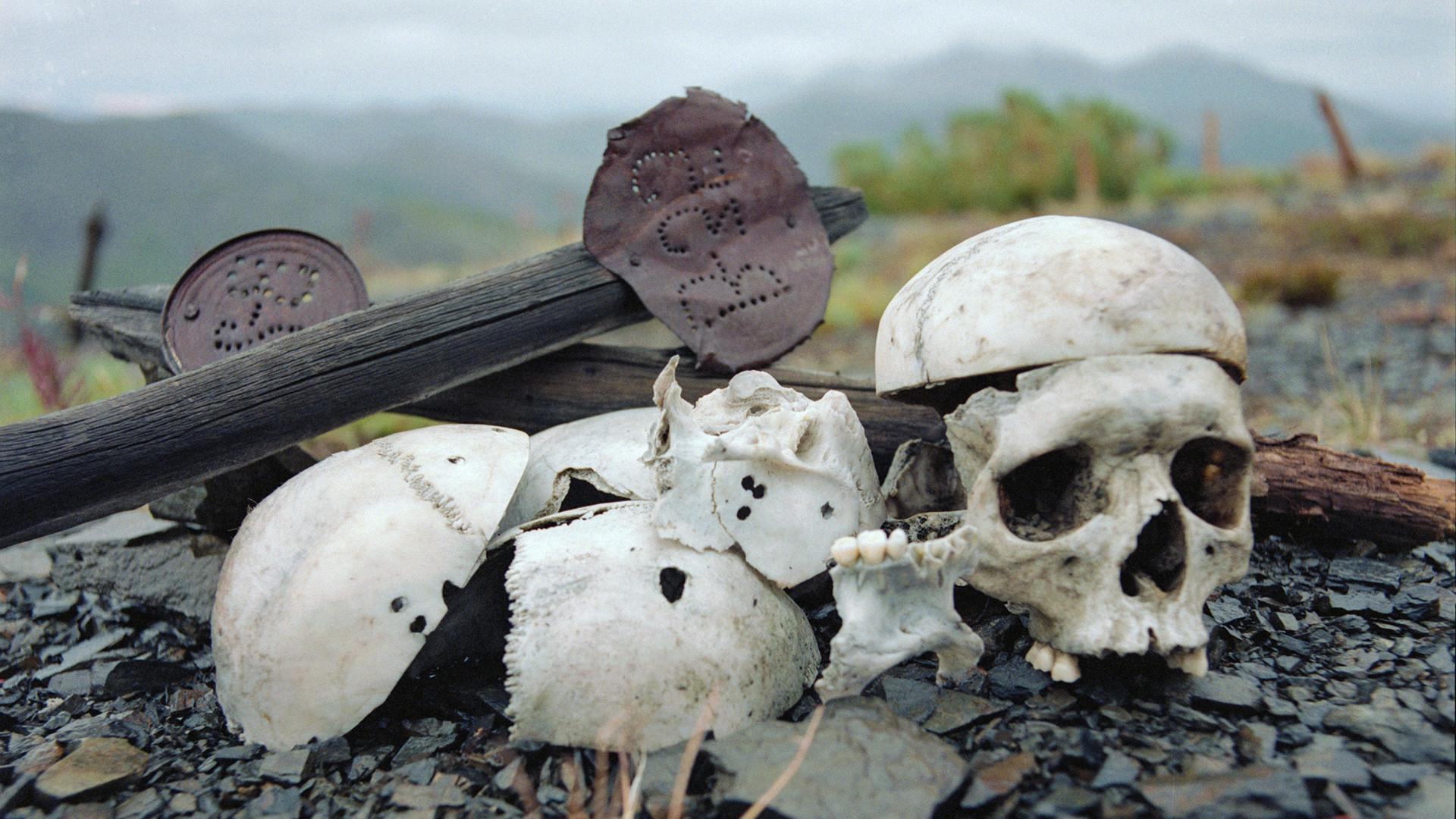 ブツギチャク強制収容所の囚人たちの遺骨