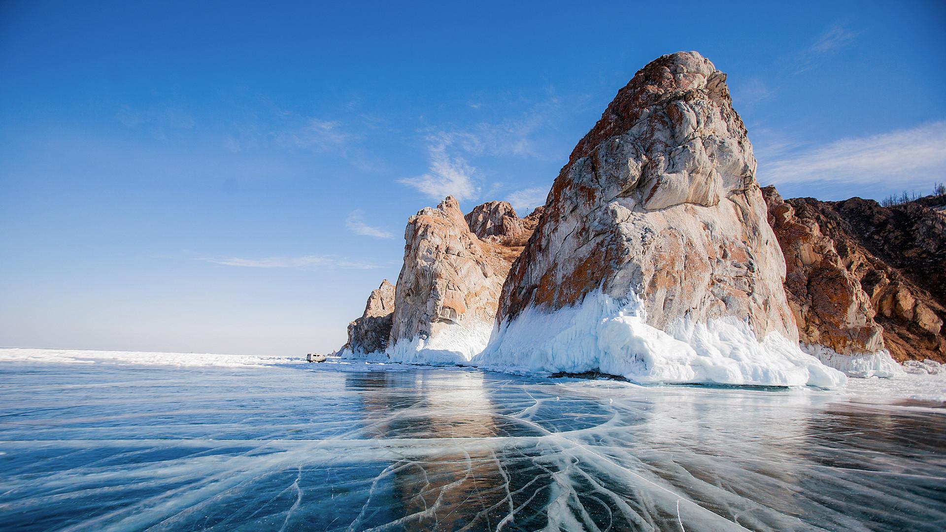 Amazing ice of Baikal.