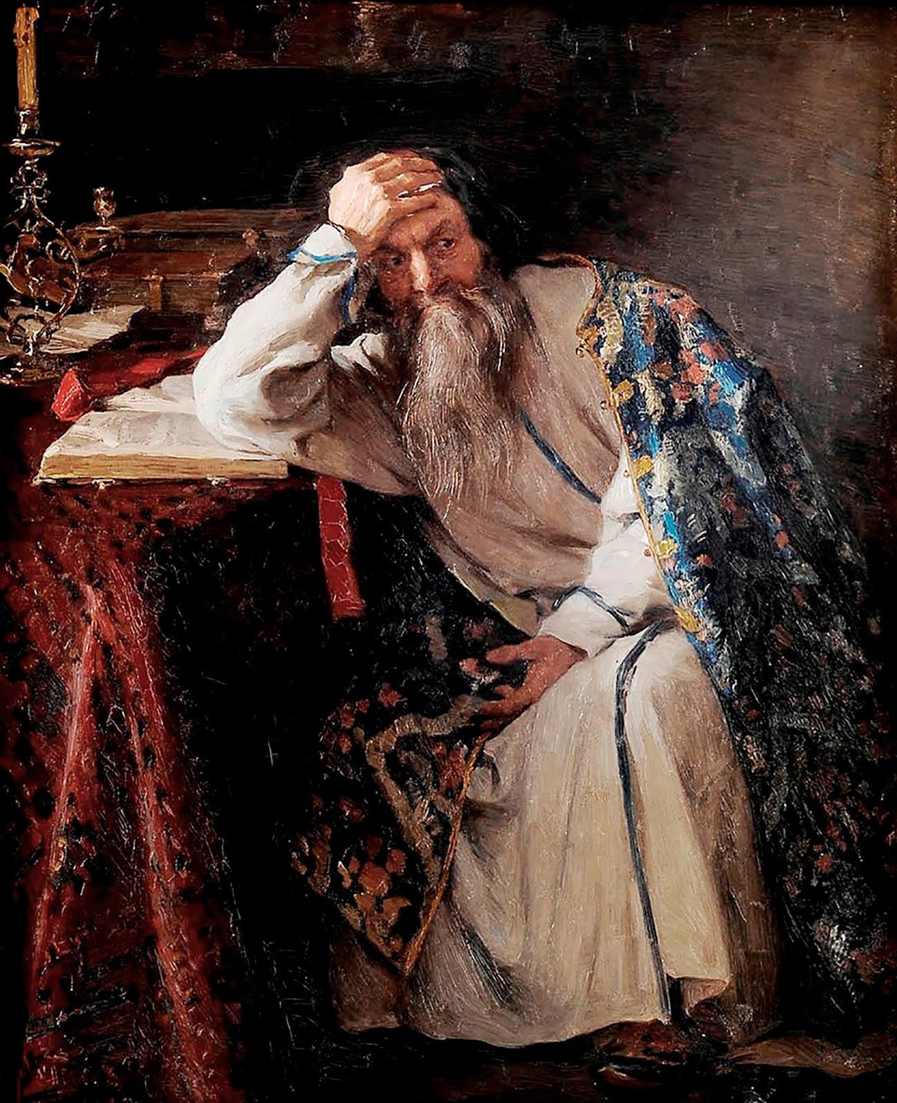 Ivan yang Mengerikan, karya Klavdiy Lebedev, 1916.