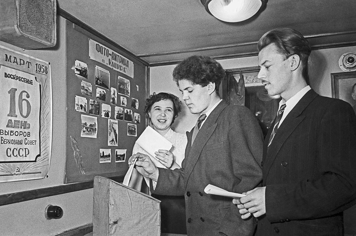 Избори в СССР, 1950-те