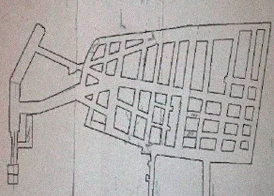 Plan des Nowyi-Port-Kühlschrankes