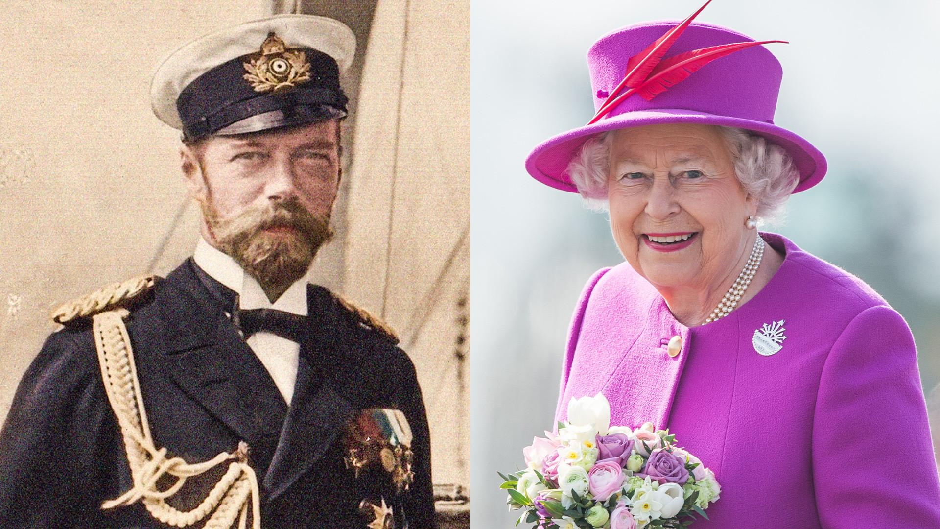 Le dernier empereur russe Nicolas II et la reine Élisabeth II