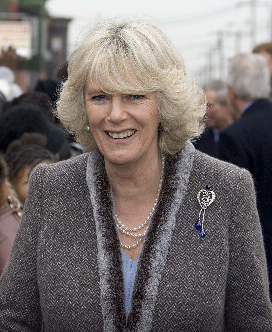 Camilla, Duchess of Cornwall is greeted by the public as she arrives to visit the Mural Arts Project at Heavenly Hall in Philadelphia on January 27, 2007.