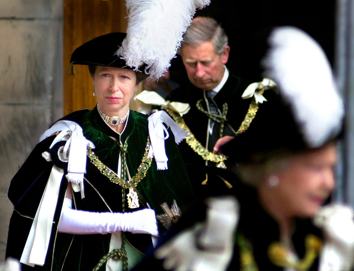 Princess Anne leaving St. Giles Cathedral, 2001.
