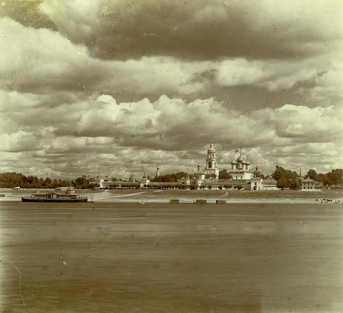 Presentation Tolg Monastery, southwest view from Volga River. 1910