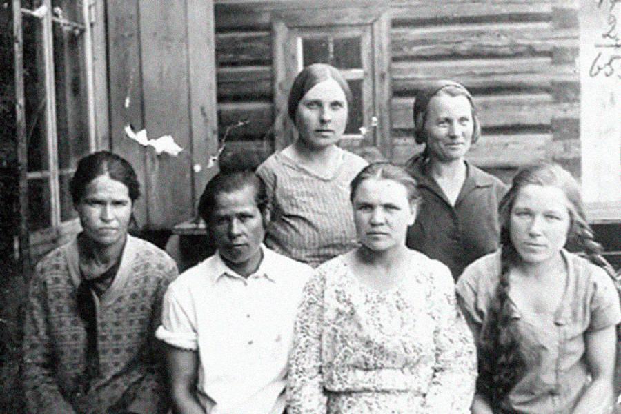 Operaie della miniera centrale di Shcheglovsk