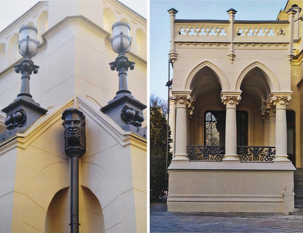 Le decorazioni esterne della casa di Zinaida Morozova