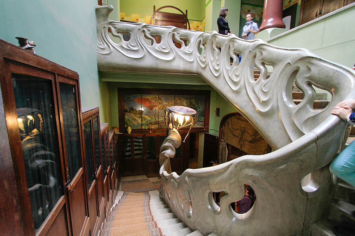 Gli interni di Palazzo Ryabushinskij