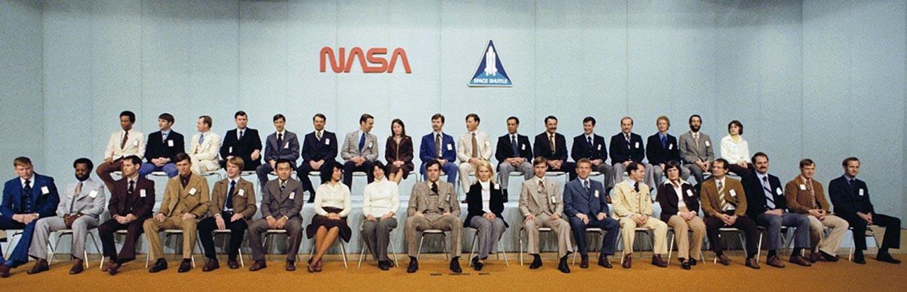 Die achte Gruppe von NASA-Astronauten, die 1978 ausgewählt wurde