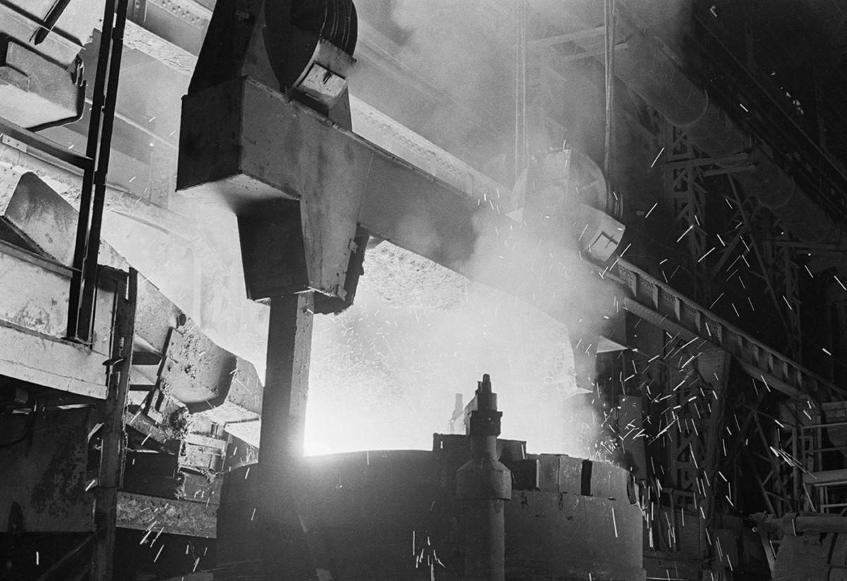 Мартенова пещ на Московския металургичен завод