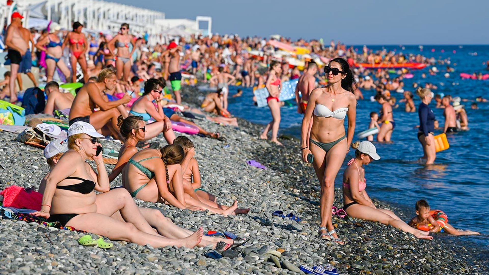 People vacationing in Sochi.