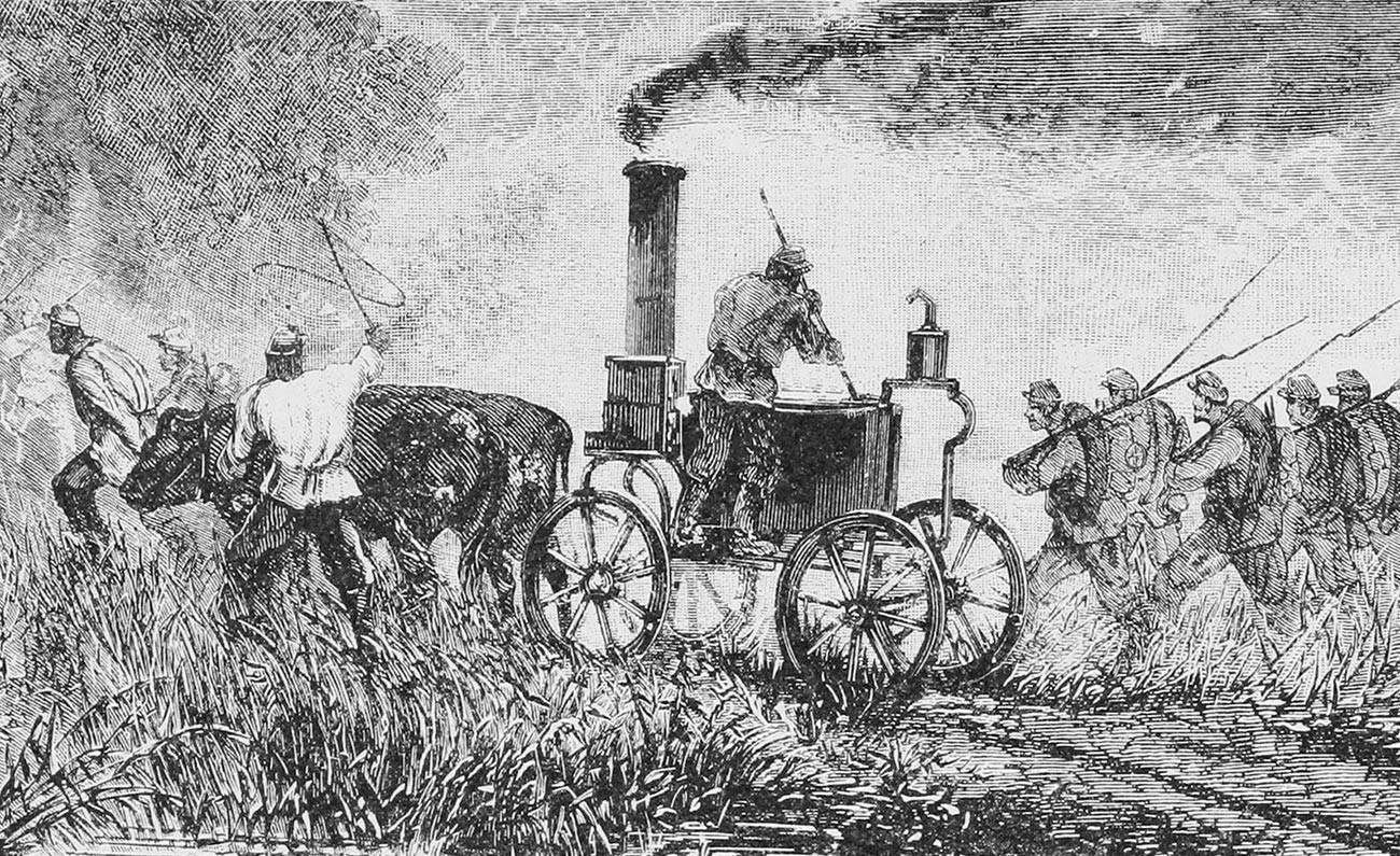露土戦争中(1877-1878年)の補給部隊