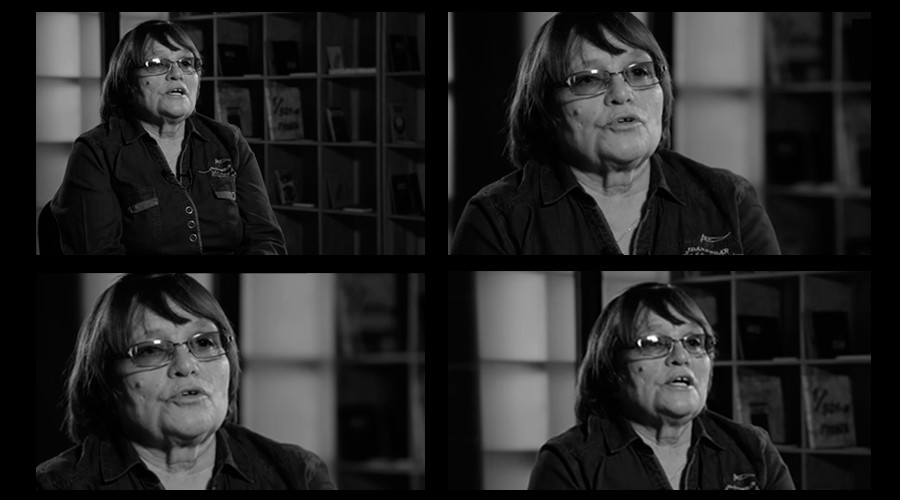 Valentina Zhukova, screenshots from the interview for 'My Gulag' project