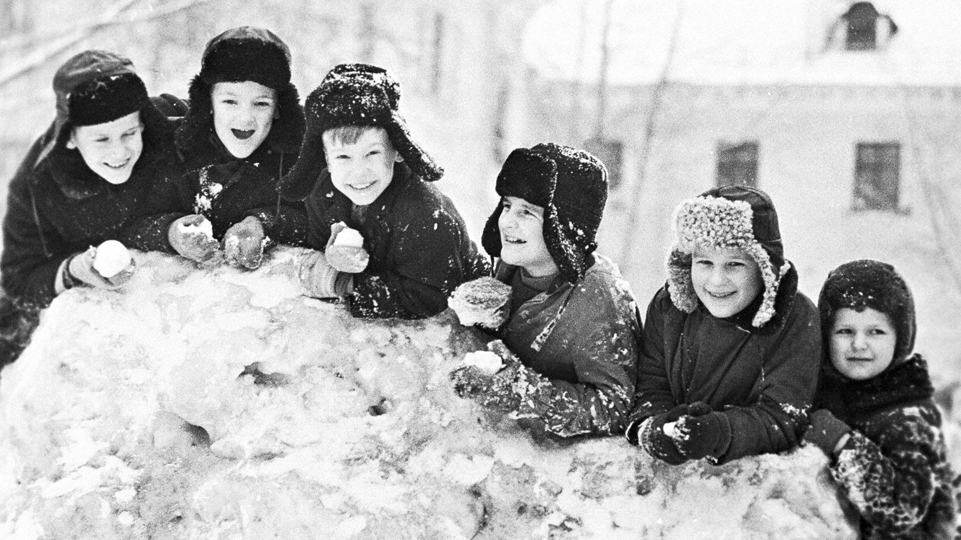 Ученици от Череповец в зимна ваканция, 1971 г.