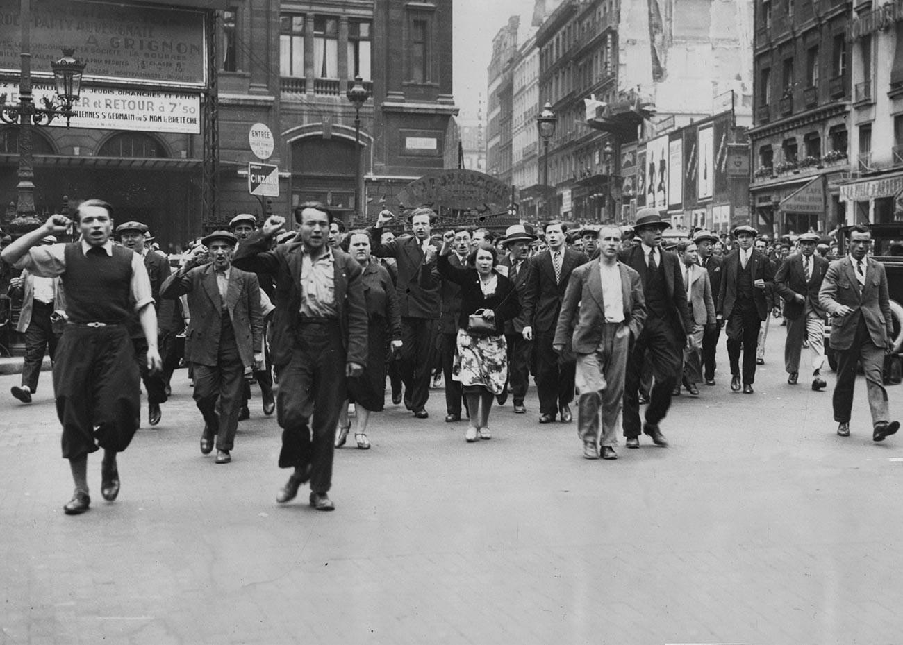 Демонстрация французских коммунистов в Париже