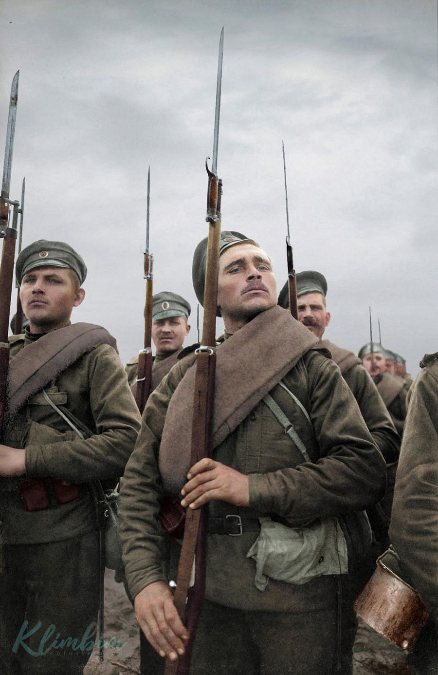 Руски војници, Први светски рат.
