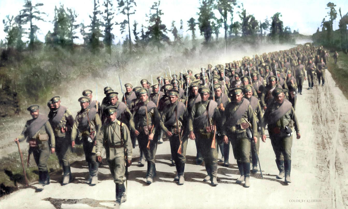 Руске трупе, Први светски рат.