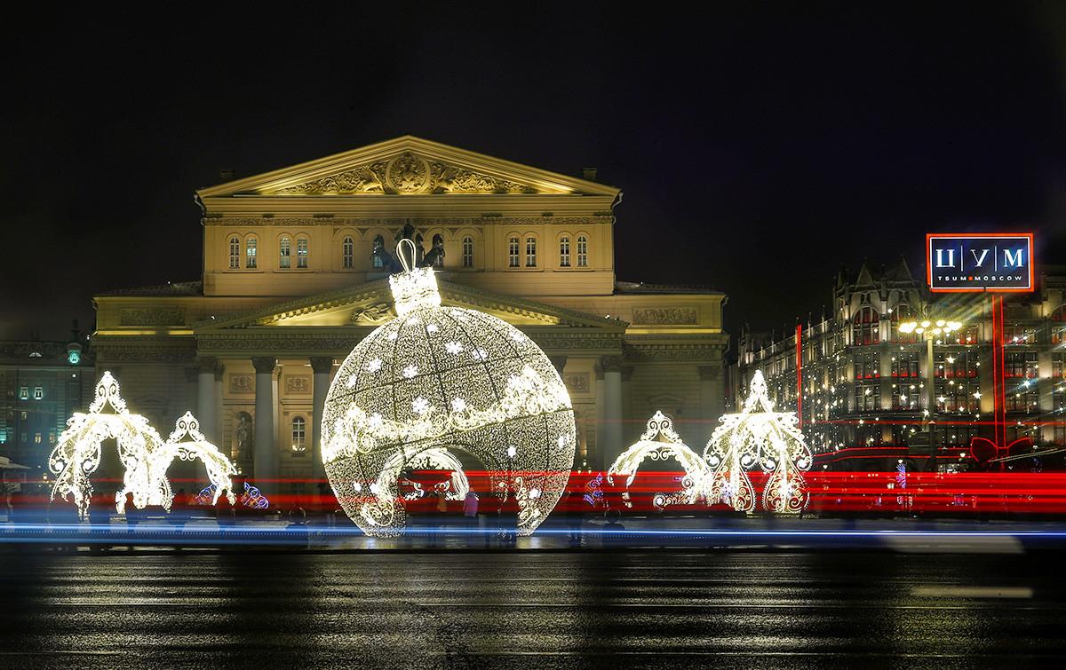 Installation devant le théâtre Bolchoï