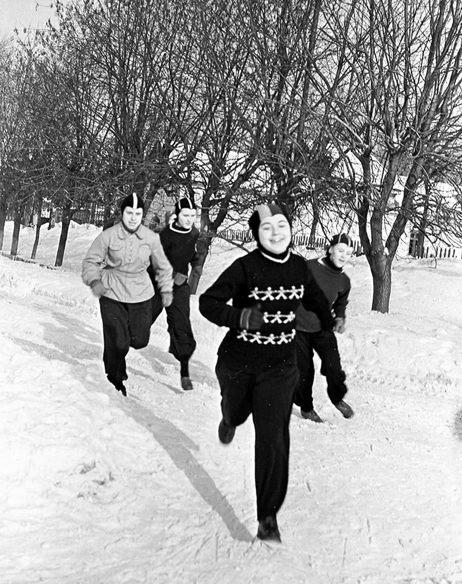 Entrenamiento, 1955
