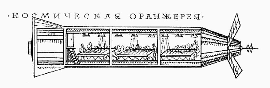 Tsiolkovsky's space greenhouse