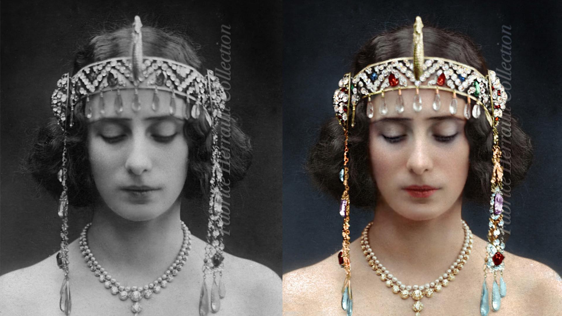 Балерина Анна Павлова в  костюме из балета «Дочь фараона»