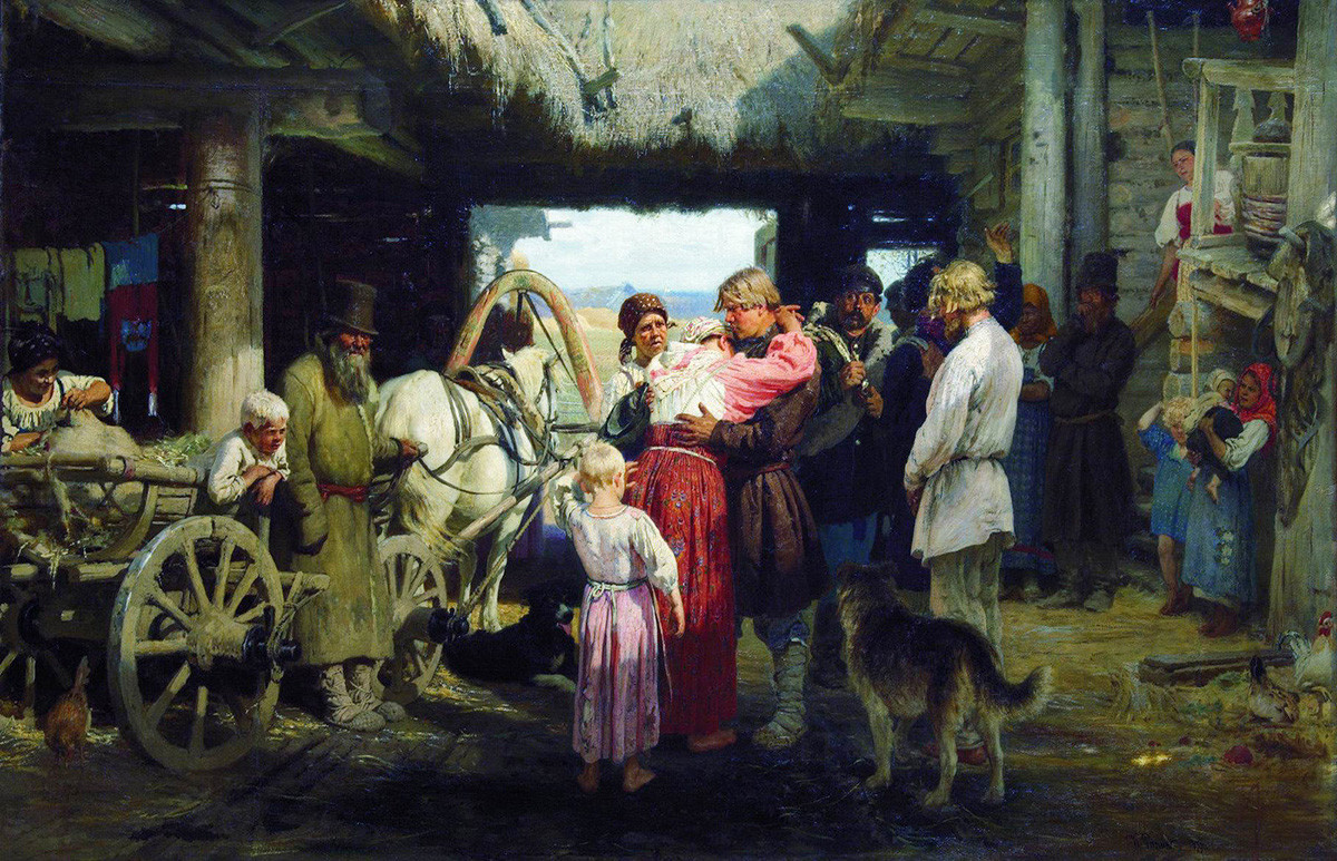 Ilya Repin. Seeing-off of a Recruit. 1879