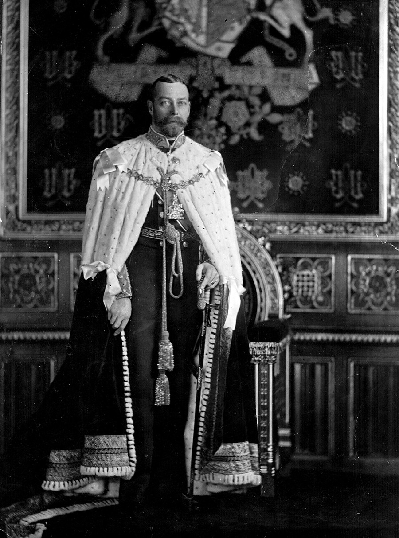 Il re britannico Giorgio V (1865-1936); foto scattata nel 1910 circa