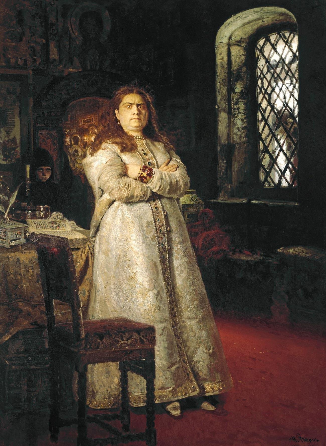 La Régente Sophie par Ilia Répine, la présentant au monastère