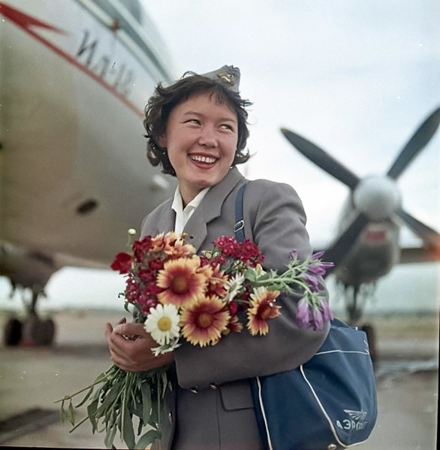 Hôtesse de l'air, années 1960