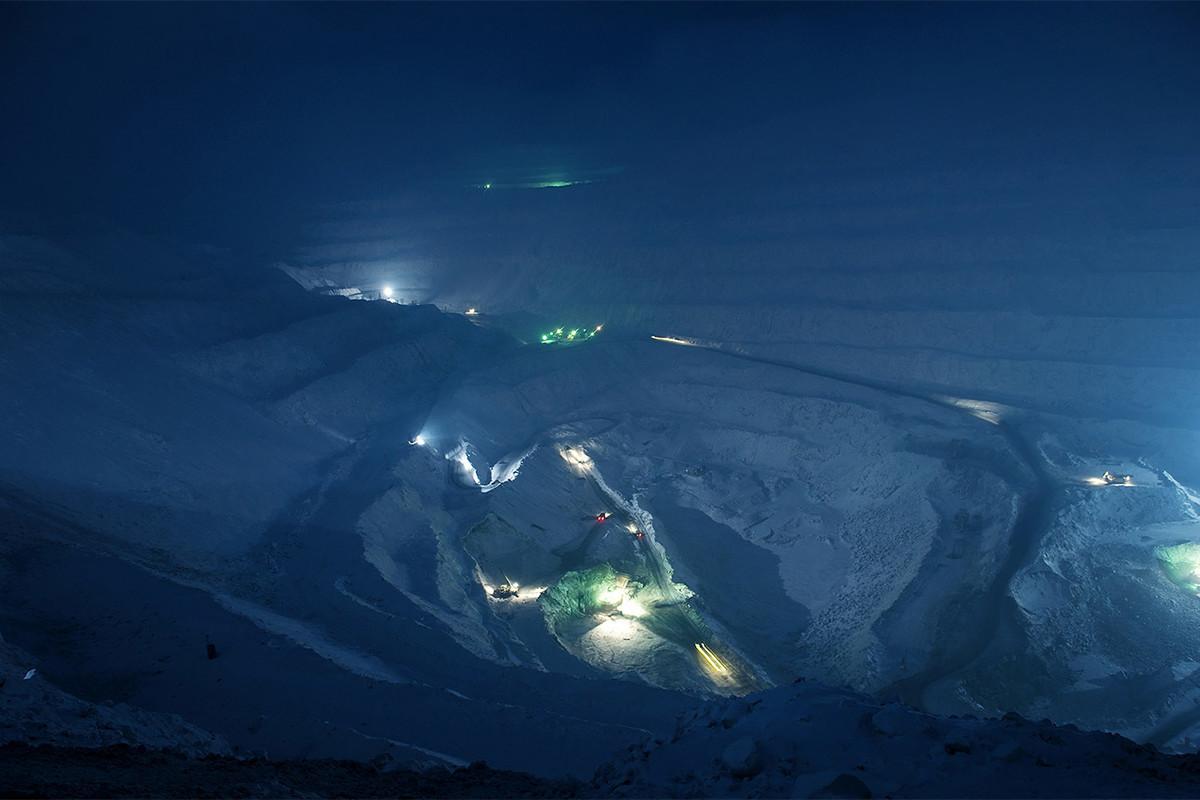 Tambang industri di Norilsk.