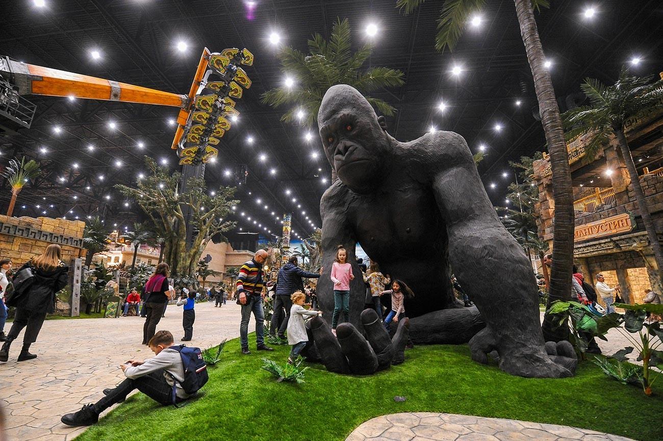 Uradno odprtje zabaviščnega parka Sanjski otok v zeleni coni Nagatinskaja Pojma.