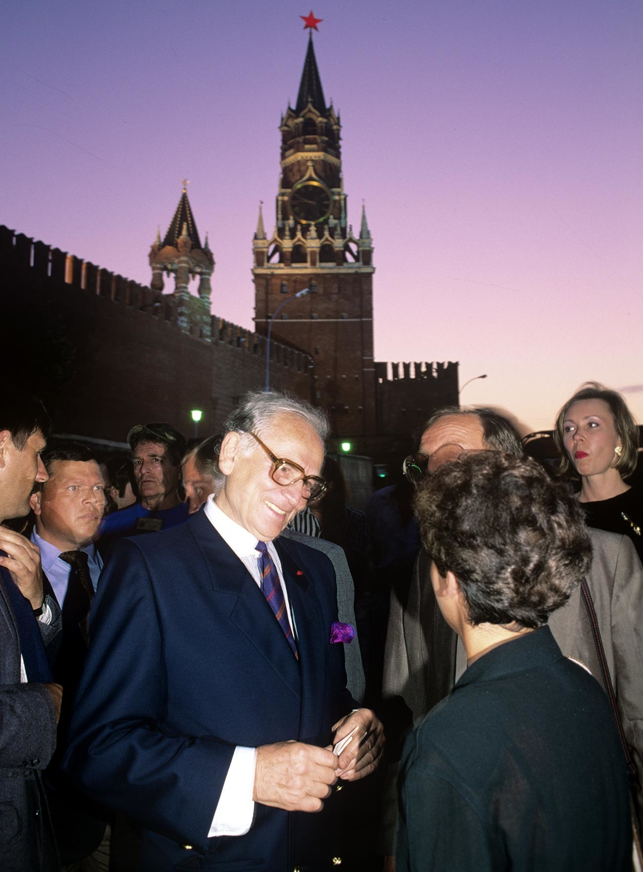 Pierre Cardin on Red Square, 1991